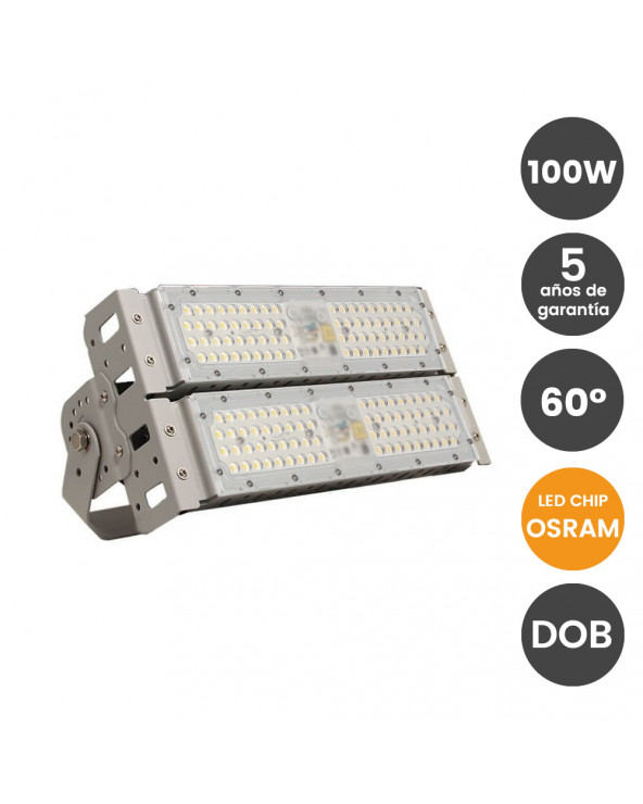 Proyector LED 100W DOB Chip...