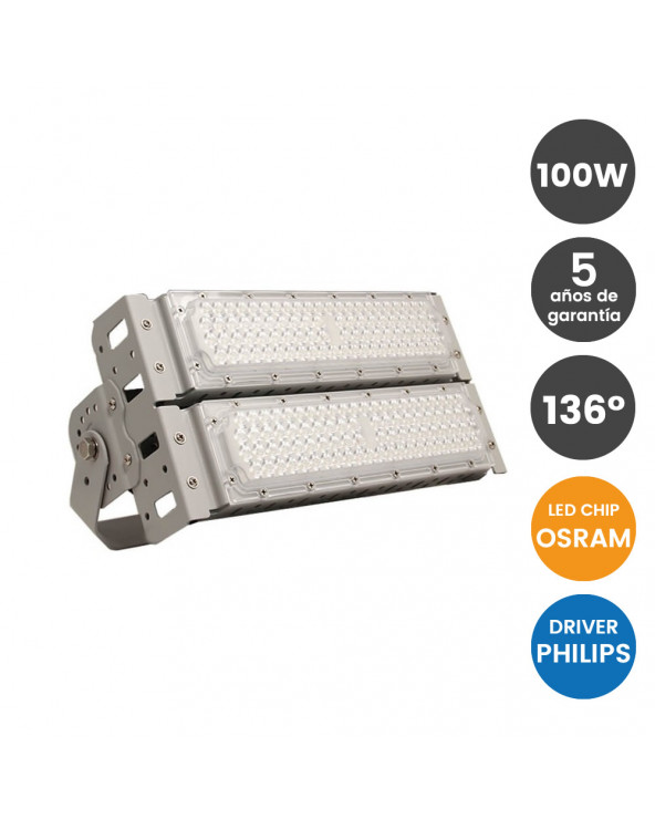 Proyector LED 100W 186Lm/W...