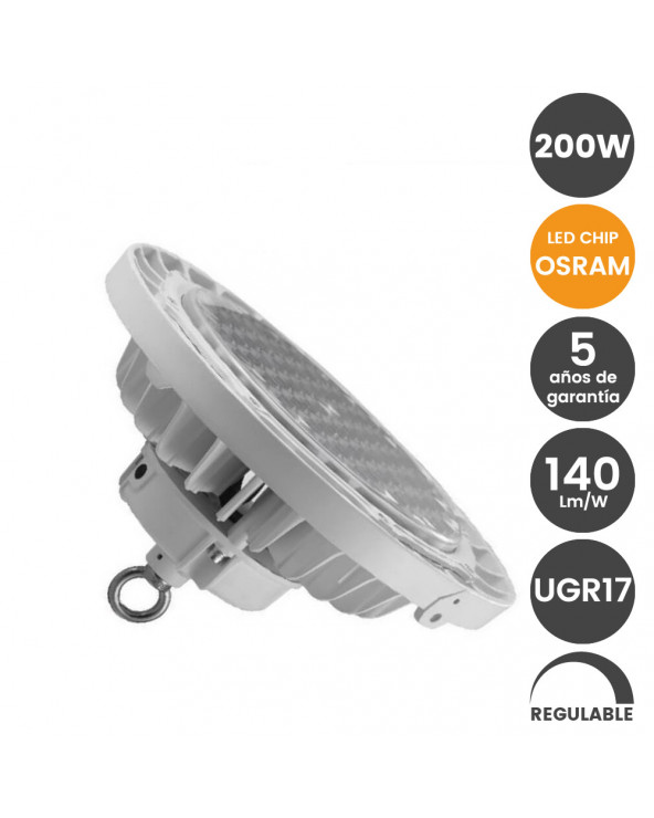 Campana industrial LED 200W...