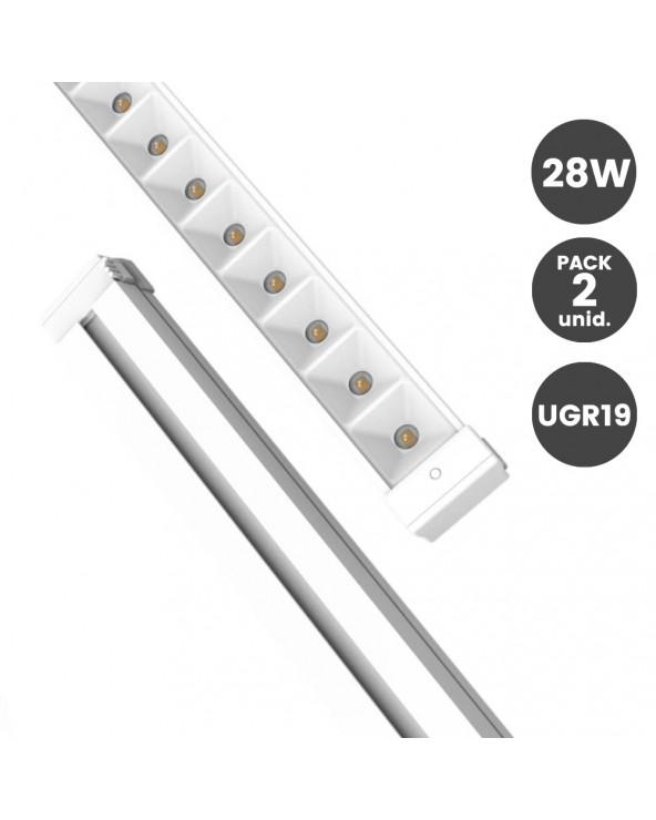 Barra LED 28W Lineal UGR19...