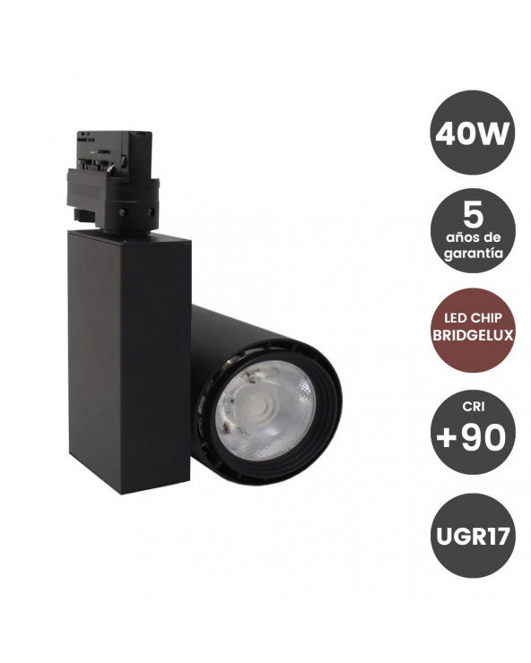 Foco LED 40W BERLIN Negro...